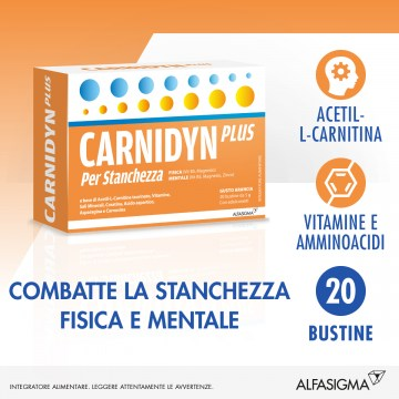 Carnidyn Plus Gusto Arancia 20 bustine Integratore Proenergy