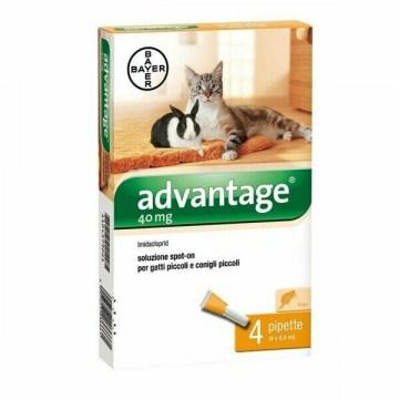 Advantage spot-on 4 pipette 0,4 ml gatti e conigli piccoli