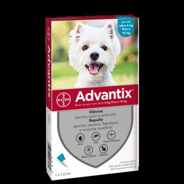 Advantix spot on 1 pipetta 1 ml cani da 4 a 10 kg