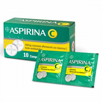 Aspirina C Effervescente Febbre e Raffreddore 10 compresse