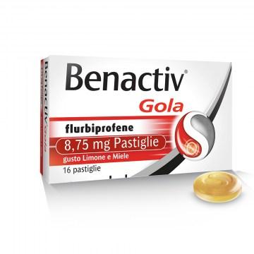 Benactiv Gola per Mal di Gola   Limone & Miele 16 pastiglie