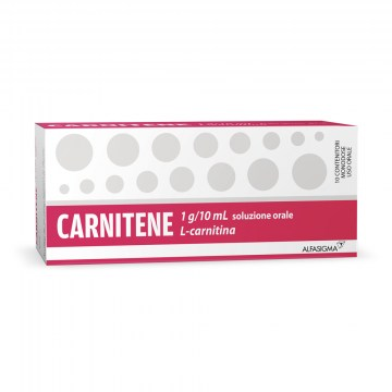Carnitene 1 g/10 ml soluzione orale Carnitina 10 flaconcini