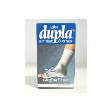 Cavigliera elastica dupla bianca m