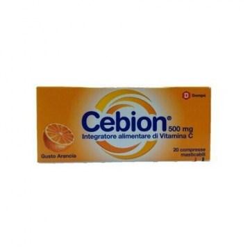 Cebion 500 mg Vitamina C Masticabile Arancia 20 compresse