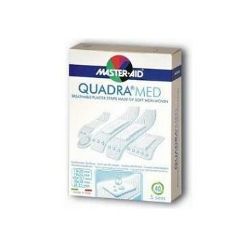 Cerotto master-aid quadra dermoattivo formati assortiti 40 pezzi