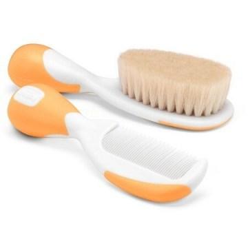Chicco spazzola + pettine arancione