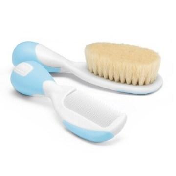 Chicco spazzola + pettine azzurro