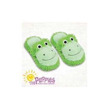 Ciabatte riscaldabili puppies verdi taglia medium