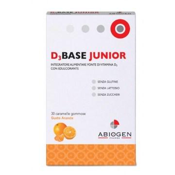 D3base junior 30 caramelle gommose arancia