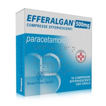 Efferalgan 16 compresse effervescenti Mal di testa e denti, Influenza 500mg