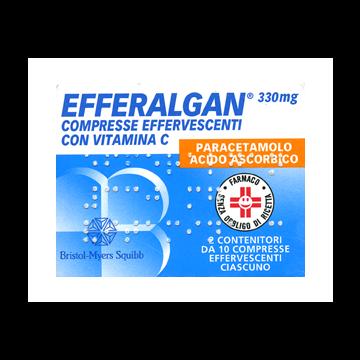 Efferalgan 330 Raffreddore e Mal di Testa 20 compresse effervescenti
