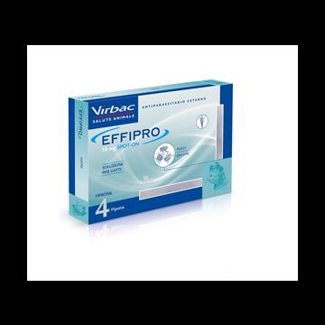 Effipro spot-on soluzione 4 pipette 0,5 ml 50 mg gatti