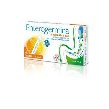 Enterogermina 4mld per disturbi intestinali 10 flaconi