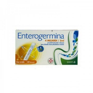 Enterogermina 4 mld fermenti 5 Benessere Intestinale ml 20 flaconcini
