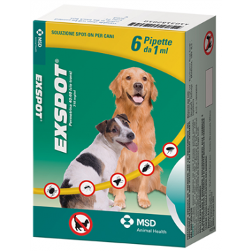 Exspot spot-on soluzione 6 pipette 1 ml 715 mg/ml cani