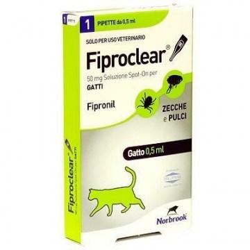 Fiproclear spot-on soluzione 1 pipetta 0,5 ml 50 mg gatti
