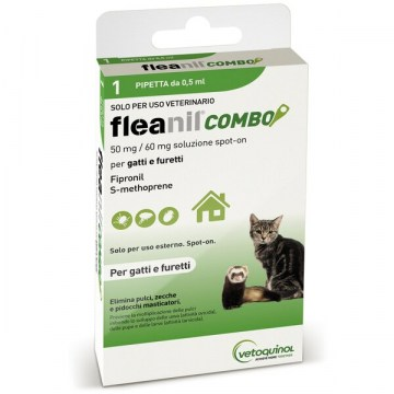 Fleanil combo spot-on 1 pipetta 0,5 ml gatti e furetti