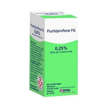 Flurbiprofene 0,25% pensa  spray mucosa orale 15 ml