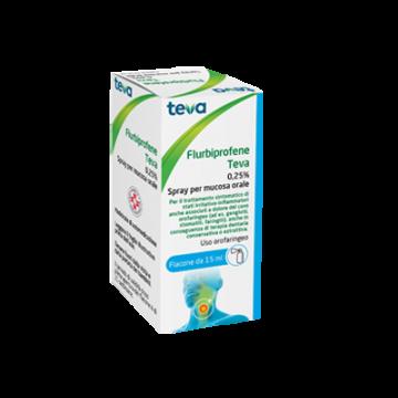 Flurbiprofene 0,25%teva spray mucosa orale 15 ml