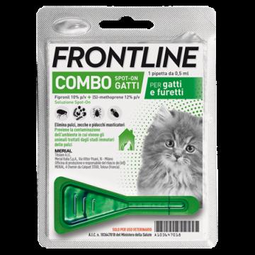 Frontline combo spot-on 1 pipetta 0,5 ml gatti e furetti