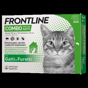 Frontline combo spot-on 3 pipette 0,5 ml gatti e furetti