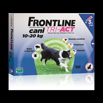 Frontline tri-act spot-on 3 pipette 2 ml cani da 10 a 20 kg
