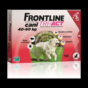 Frontline tri-act spot-on 3 pipette 6 ml cani da 40 a 60 kg