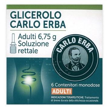 Glicerolo Carlo Erba Lassativo adulti 6,75 g 6 clismi