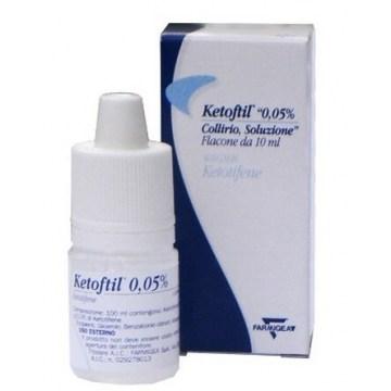 Ketoftil Collirio 0,05% Ketotifene 10 ml flacone