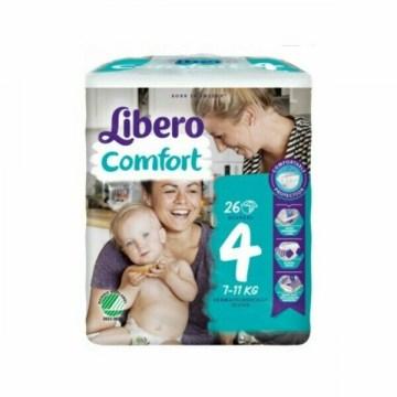 Libero comfort pannolini taglia 4 bambini 7-11 kg 26 pezzi
