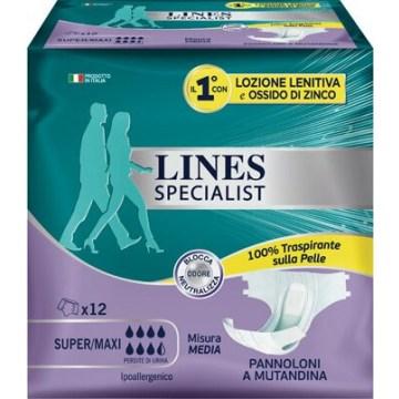 Lines specialist pannolone a mutanda media 12 pezzi