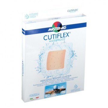 Medicazione adesiva impermeabile trasparente master-aid cutiflex 12,5x12,5 5 pezzi
