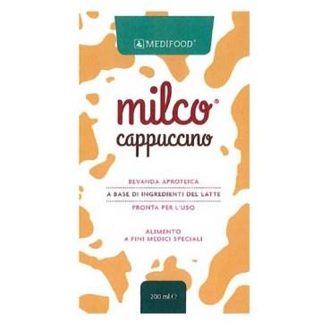 Medifood milco bevanda aproteica cappuccino 6 x 200 ml