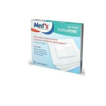 Meds pore medicazione adesiva 10x15 cm 5 pezzi