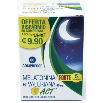 Melatonina Active Forte con Valeriana 60 compresse