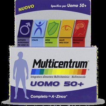 Multicentrum Uomo 50+ Multivitaminico Multiminerale 30 compresse