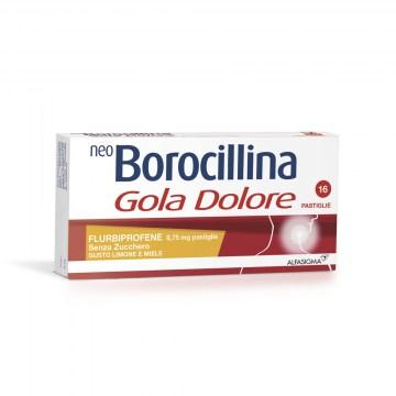 Neoborocillina gola dolore limone miele senza zucchero16 pastiglie