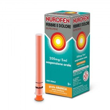 Nurofen Febbre e Dolore Bambini 200 mg Sciroppo Arancia  100 ml