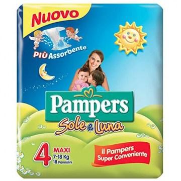Pampers Sole&Luna Pannolini misura Maxi 18 Pezzi