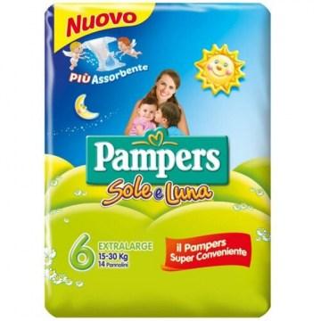 Pampers Sole&Luna Pannolini Taglia XL 14 Pezzi