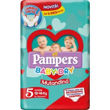 Pannolino a mutandina pampers baby dry junior small pack 14pezzi