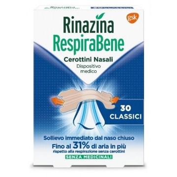 Rinazina respirabene cerotti nasali classici 30 pezzi
