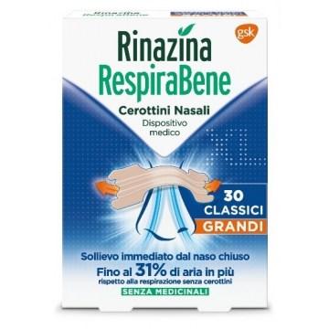 Rinazina RespiraBene Cerottini Nasali Grandi 30 pezzi