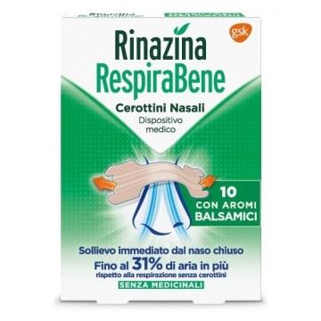 Rinazina respirabene cerotti nasali balsamici 10 pezzi
