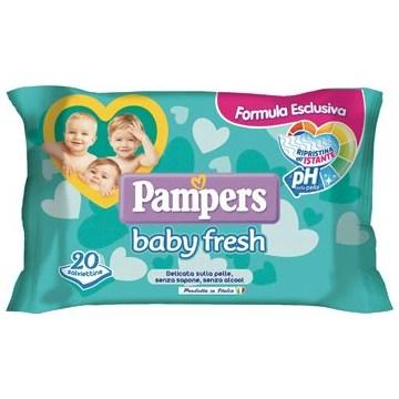 Salviettine umidificate pampers baby fresh 30% + consistente20 pezzi