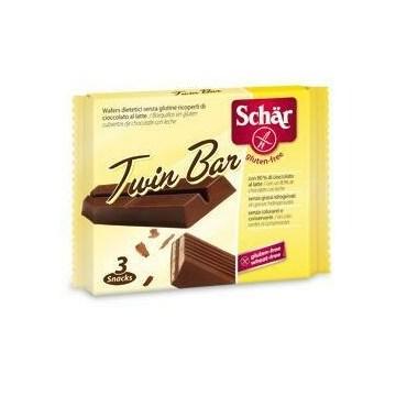 Schar twin wafer cioccolato al latte 3 barrette x 21,5 g