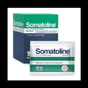 Somatoline emulsione 15bustine 0,1+0,3%