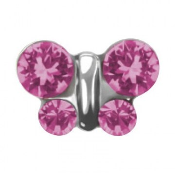 System 75 farfalla rosa acciaio