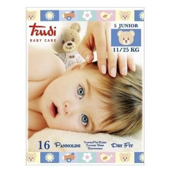 Trudi baby care pannolino dry fit junior 11/25 kg 16 pezzi