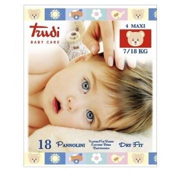 Trudi baby care pannolino dry fit maxi 7/18 kg 18 pezzi